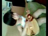 моя сестрёнка поёт песню opppa gangnam style на домбре